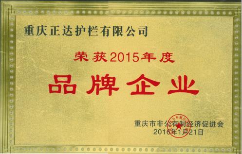 2015年度品牌企业