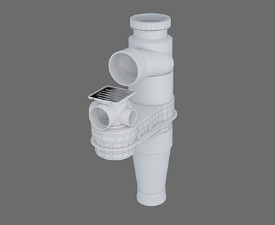 塑料預埋式連體地漏I-1 型