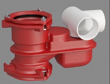 不降板裝配式集成衛生間預埋式鑄鐵排水匯集器