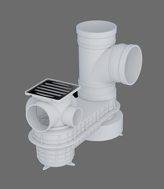 塑料預埋式排水匯集器I-2型