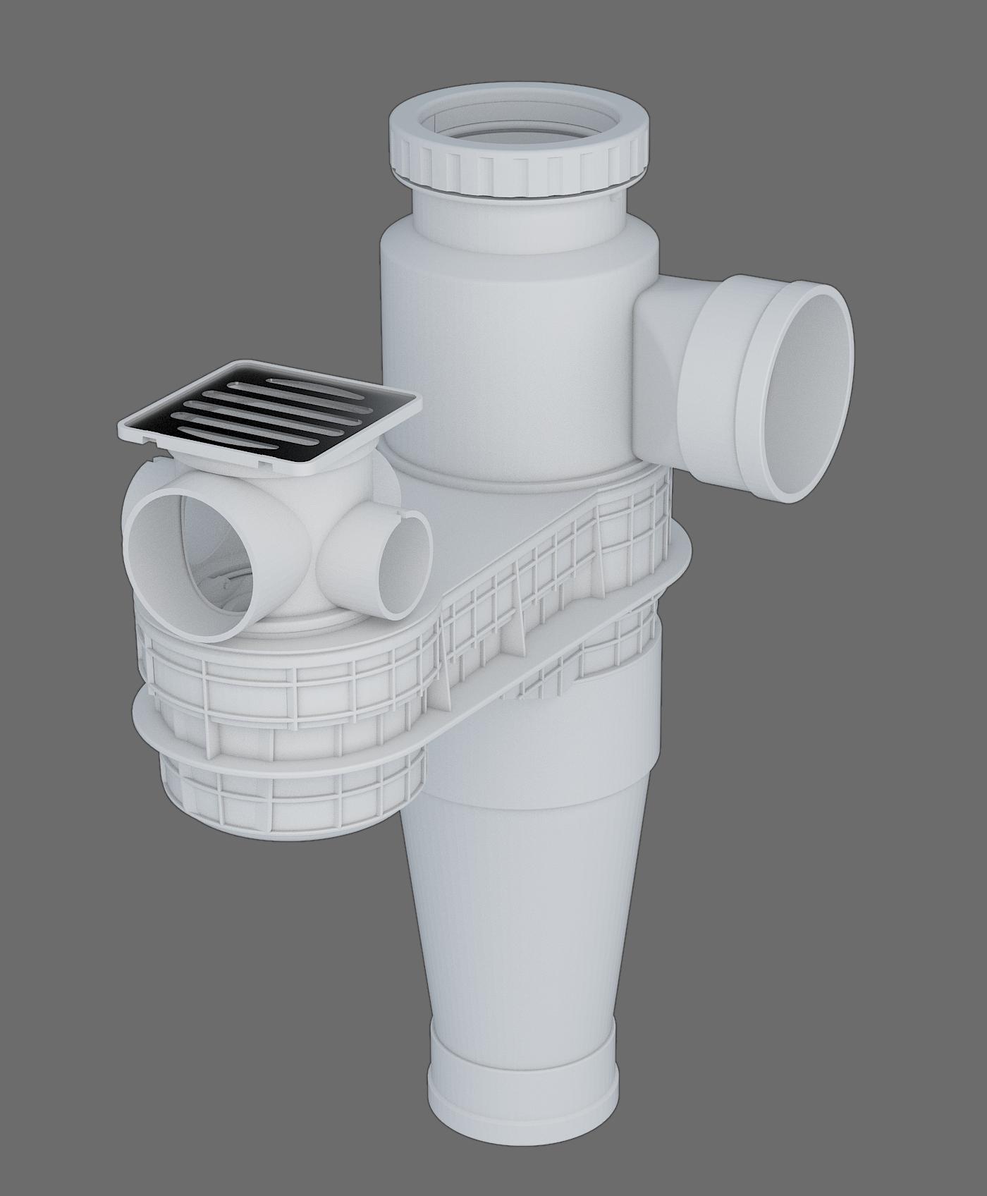 塑料導流三通連體地漏II -1型