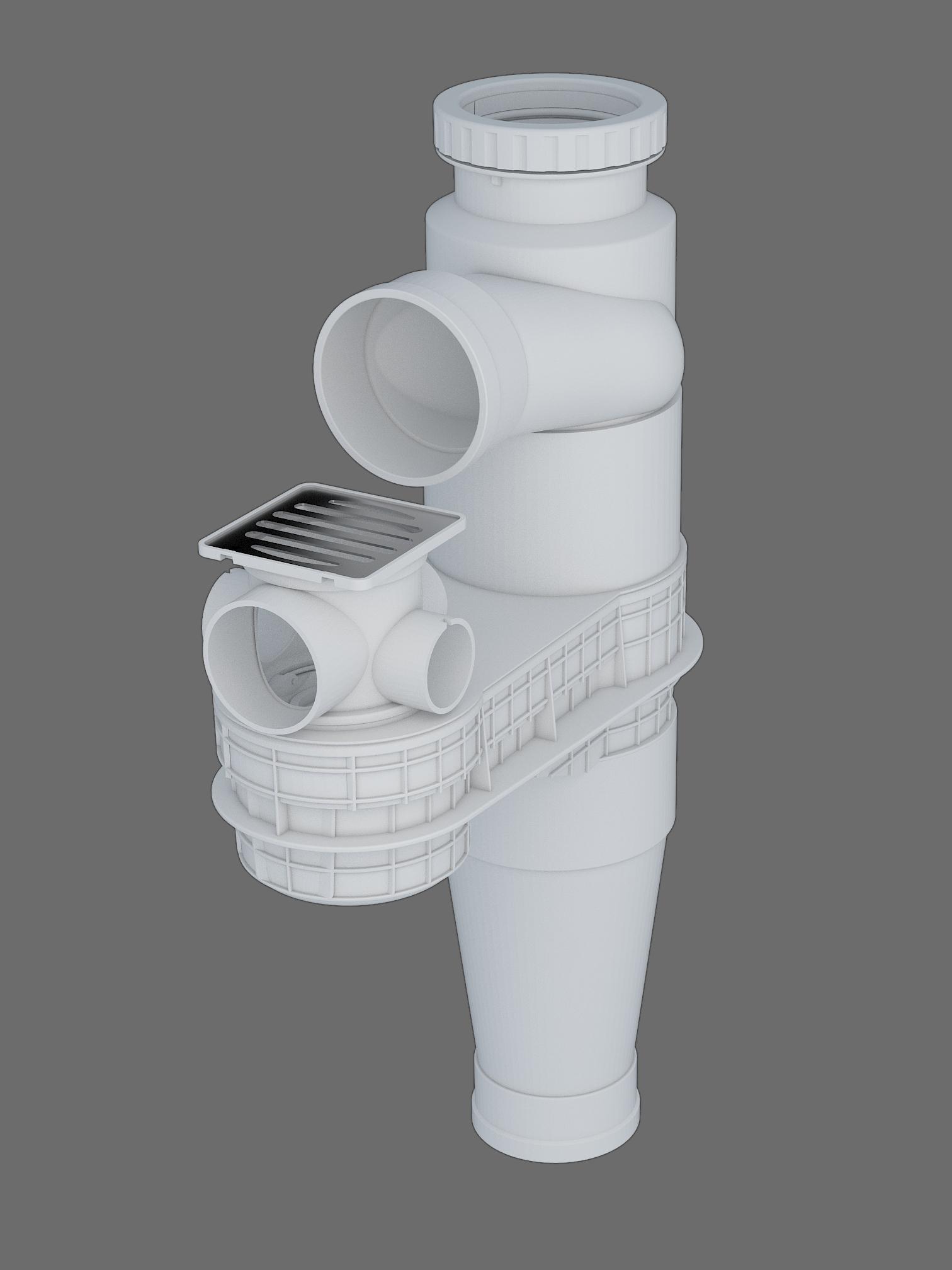 塑料導流三通連體地漏II-2型
