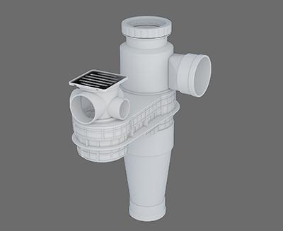 塑料導流三通連體地漏II-2 型