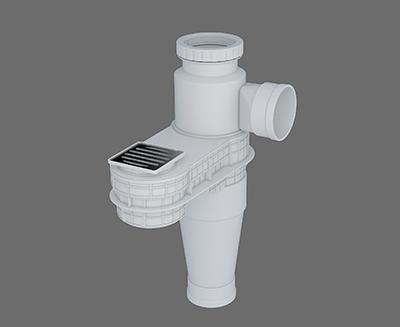 塑料導流三通連體地漏- II 型
