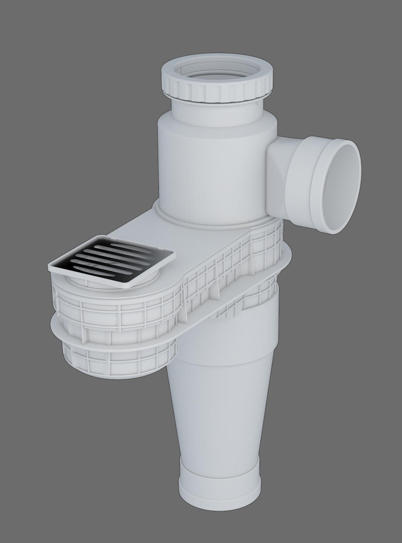 塑料導流三通連體地漏-II型