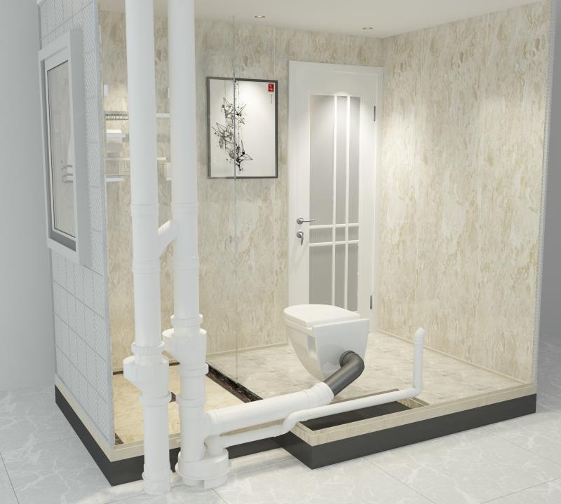 不降板裝配式整體衛生間和降板裝配式整體衛生間的對比