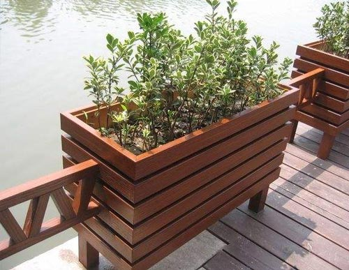 防腐木花坛