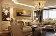 120㎡简约欧式家装,客厅设计真大气