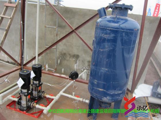 建设项目部生活用水变频恒压威廉希尔官方网址机组