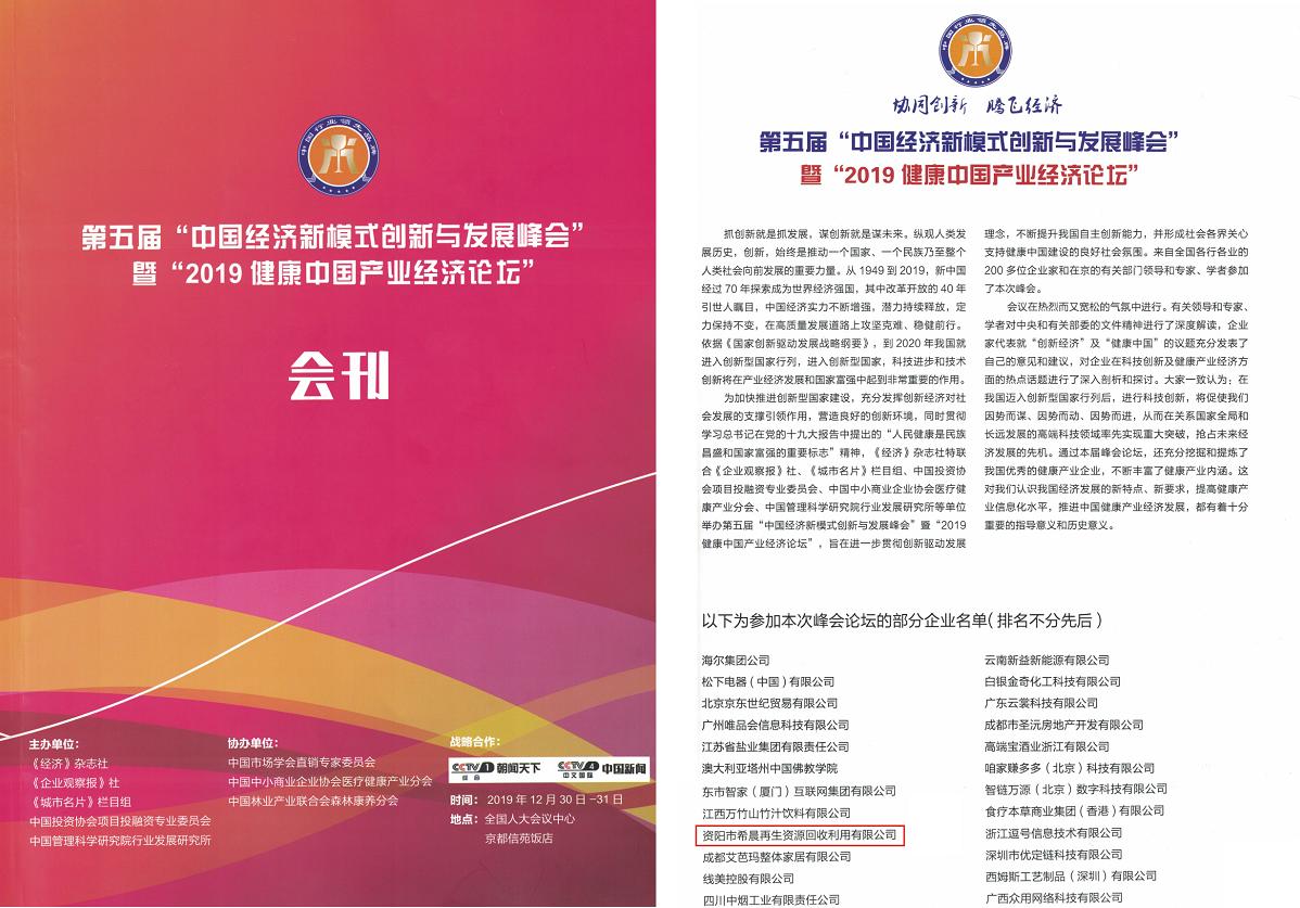 2019健康中国产业经济论坛会刊