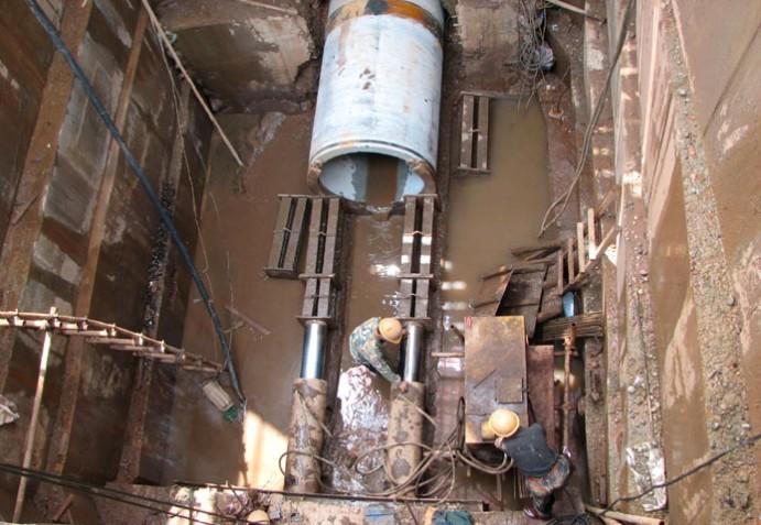 西安站改扩建工程陇海K1066+808 2*1.5m钢筋混凝土圆形涵洞工程