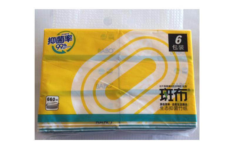 斑布运动系列卫生抽纸110抽*16