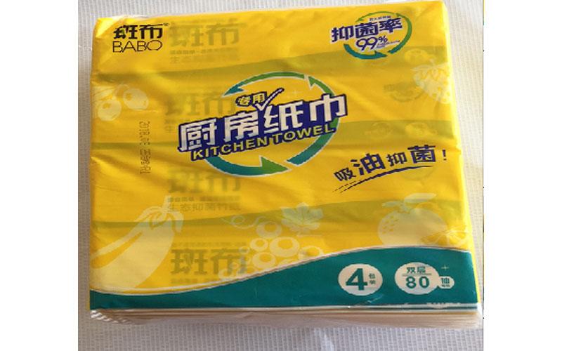 斑布抽取式厨房纸巾80抽*16