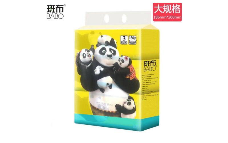 160mm斑布功夫熊猫系列软抽*20