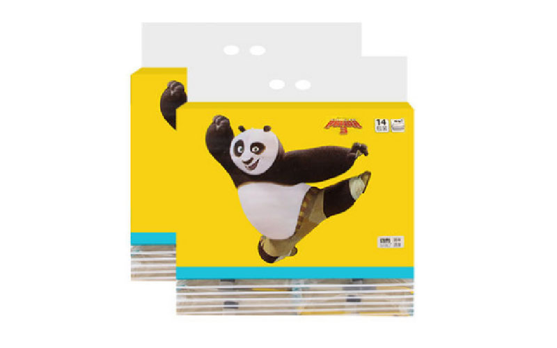 135mm斑布功夫熊猫系列软抽*12