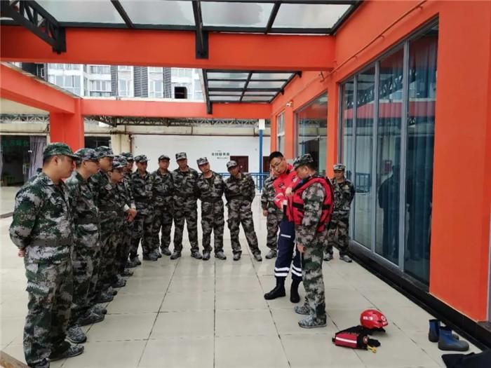 公司应急救援队到青白江恒心专业救援队学习,交流