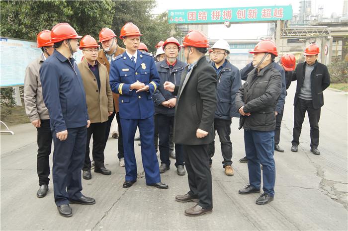 青白江区委副书记、区长池勇一行莅临玉龙公司进行危化品安全检查