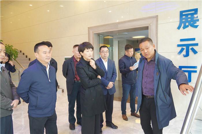 成都市副市长刘筱柳在区委书记张胜的陪同下莅临玉龙调研