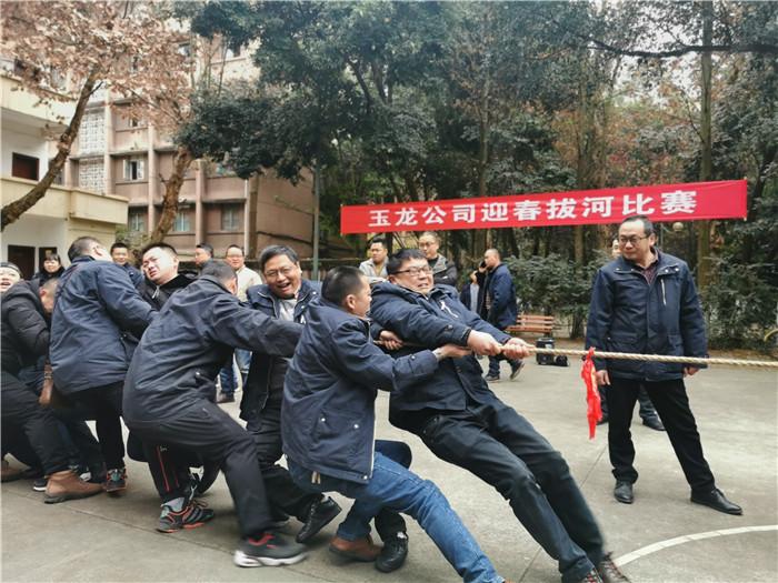 """玉龙公司举行""""迎新春""""拔河比赛"""