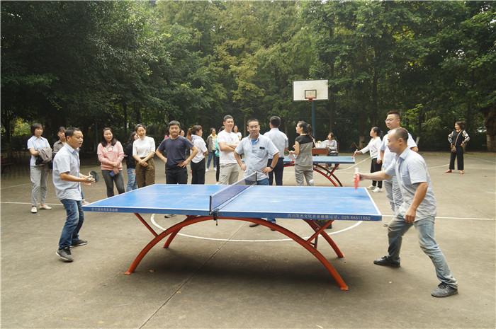"""新蒲京4473公司举办""""迎国庆""""职工乒乓球比赛"""